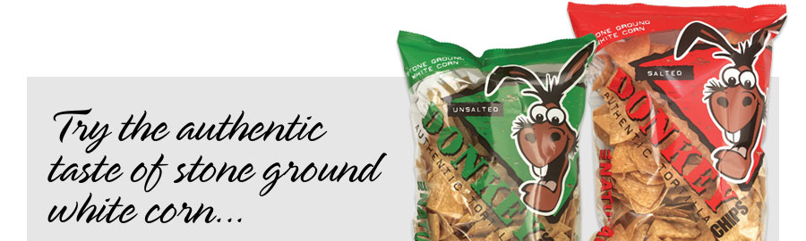 Try the authentic taste of stone ground white corn...